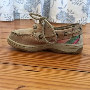 Toddler Girl Bluefish Sperry Boat Shoe Size 6.5